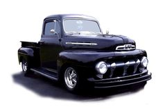 1951 Ford - my dream truck. 1951 Ford Truck, Ford Pickup Trucks, Hot Rod Pickup, Old Pickup, Pick Up, Classic Hot Rod, Old Fords, Street Rods, Classic Trucks