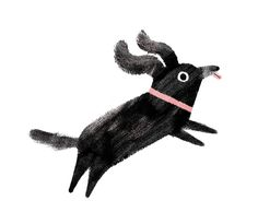 We're loving this cute pup by Nottingham-based illustrator Ella Bailey, whose commercial work includes a range of greetings cards for Ohh Deer, and a children's book called 'No Such Thing' – recently published by Flying Eye Books. We're big fans of. Art And Illustration, Character Illustration, Illustration Children, You Draw, Art Graphique, Grafik Design, Animal Design, Little Dogs, Dog Art