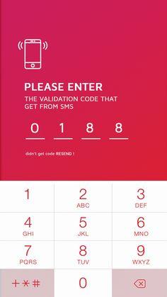 OTP verification Screen#Appdesign #UI #mobile #loginpage #login #2017#OTP Mobile App Design, Mobile Ui, Dashboard Design, Ui Ux Design, Layout Design, Ios Ui, User Interface Design, Coding, Robot
