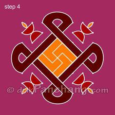 This page provides 8x8 Dot Rangoli Designs with title 8x8 Dot Rangoli 2 for Hindu festivals.