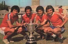 Mahmoud El Khatib with the 1970s legendery team #Al_Ahly