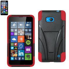Reiko Silicon Case+Protector Cover Nokia Lumia 640 Lte/ Microsoft Lumia 640/Microsoft Rm-1109 New Type Kickstand Red Black