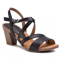 Sandály CAPRICE - 9-28305-22 Black Nappa 022 Furla, Sandals, Shoes, Black, Fashion, Moda, Shoes Sandals, Zapatos, Shoes Outlet