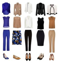 """Work capsule wardrobe. 15 pieces. 150 combinations."" by elizabethtennent ❤ liked on Polyvore"