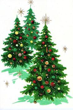 Old Christmas Post Cards — Christmas Tree Kit, Christmas Scenes, Christmas Greetings, Christmas Holidays, Christmas Crafts, Christmas Decorations, Vintage Christmas Images, Retro Christmas, Vintage Holiday