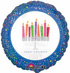 Discount 18'' Playful Menorah Foil Balloon (5ct)