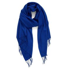 Women's Nordstrom Tissue Weight Wool & Cashmere Scarf ($99) ❤ liked on Polyvore featuring accessories, scarves, blue mazarine, wool shawl, cashmere shawl, cashmere wool shawl, woven scarves and long scarves