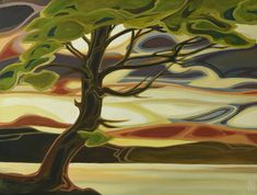 Canadian A Kelowna resident, Erica studied art and design at Colorado institute of art, finished up with design degree in Vancouver. Abstract Landscape Painting, Landscape Art, Landscape Paintings, Abstract Art, Landscapes, Canadian Painters, Canadian Art, Western Art, Tree Art