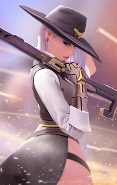 Overwatch Ashe by GawkInn on DeviantArt Anime Girl Hot, Anime Sexy, Anime Art Girl, Overwatch Comic, Overwatch Fan Art, Fantasy Art Women, Fantasy Girl, Fantasy Characters, Female Characters