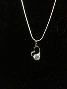 Cubic Zirconia Love Pendant Necklace by IeshasFashionJewelry on Etsy