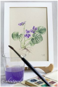 download my violet botanical watercolor