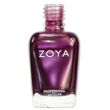 Zoya Nail Polish in MarryJ - Warm, light red-toned purple frost with strong gold, green and blue duochrome shimmer.