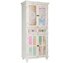 Popestrite svojo spalnico z romantično omaro iz kakovostnega masivnega lesa. //  Spice up your bedroom with a romantic solid wood closet. Cupboard, Cool Things To Buy, Modern Design, Furniture Design, Shabby Chic, Shelves, Home Decor, Surface Finish, Clothes Stand