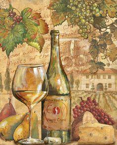 Wine Collage II Art Print