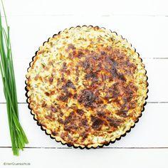 Eine einfache vegetarische Quiche