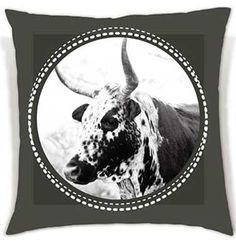 These soft, eye-catching cushions bring the beauty of the Nguni cattle to your living space. Duo Tone, Cattle, Cushions, African, Eye, Space, Animals, Inspiration, Beauty