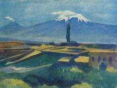 'Ararat', 1923 by Martiros Saryan (1880-1972, Russia)