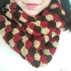 The Shelly Scarf Crochet Pattern - step by step instructions with pictures to help.