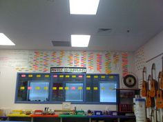 Here's an idea of a music word wall for music class. Great Idea!