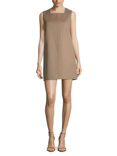 Wool Seamed Shift Dress by Derek Lam at Gilt