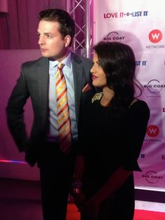 Todd Talbot and Jillian Harris being interviewed on the #lioli100 red carpet