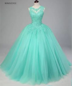 Mint Green Quinceanera Dresses 2019 Tulle Appliques Vestidos De 15 Anos Sweet 16 Dresses Debutante Gowns Dress For 15 Years Source by 16 dresses teal Cute Formal Dresses, Prom Dresses For Teens, Prom Outfits, Sweet 16 Dresses, Beautiful Prom Dresses, Pretty Dresses, Long Dresses, Quince Dresses Teal, Teal Quinceanera Dresses