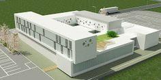 ef2-laboratorios University Architecture, School Architecture, Architecture Design, Building Concept, Hospital Design, Arch Model, Outdoor Furniture Sets, Outdoor Decor, Container