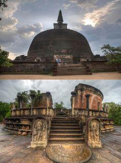 Ancient city of Polonnaruwa, Sri Lanka. Sri Lanka, Ancient City, Buddha Temple, Temples, Ancient Architecture, India Travel, World Heritage Sites, Wonders Of The World, Incredible India