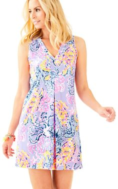 Lilly Pulitzer - Amina V-Neck Swing Dress So Snappy Summer 2017  https://www.lillypulitzer.com/product/shop-prints/so-snappy/amina-v-neck-swing-dress/pc/9/c/655/10185.uts