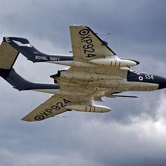 'De Havilland Sea Vixen ' by Andrew Harker Lightning Aircraft, Air Force Aircraft, Fighter Aircraft, Fighter Jets, Military Jets, Military Aircraft, Royal Navy Aircraft Carriers, Aircraft Design, Cold War