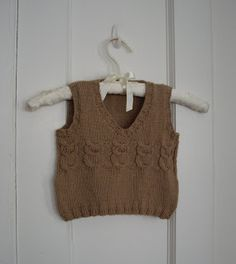 I found it, I found it!!! My Great Aunt knit this vest for each of my twins when they were little (25 yrs ago), and I have wanted to make more for my grand sons. I found the pattern!!!