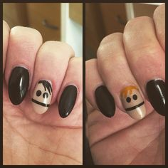 So my nail lady asked what I wanted today. Like any normal person I asked for Terrance and Phillip of course! #terranceandphillip #southpark #whynot #swag