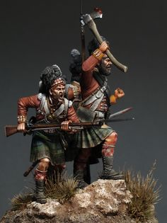 """Scottish fury"" 54mm. White metal by Sergey Popovichenko"