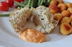 Huvilaelämää ja mökkiruokaa: Yrttiset kanajauhelihamuffinit