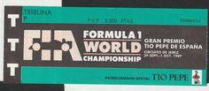 1989 JEREZ SPANISH GP F1 AYRTON SENNA WIN GENERAL ENTRANCE RACE DAY TICKET PASS