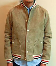 TOJ Lightweight Suede Baseball Jacket