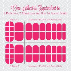 What can you get from one sheet of Jamberries? 2 Pedicures, 2 Manicures and 8 to 16 Accent Nails!