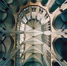 Massive: The vaulted ceiling above the choir at Cologne Cathedral, Cologne, Germany, which is northern Europe's largest Gothic church
