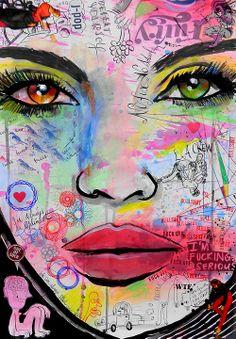 """Loui Jover também traz #cores e muito #sentimento para as suas obras: """"Always the optimist"""" #perfect #colors #arte"""