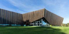 ARKIS architects' Norwegian energy efficient aquatics centre.