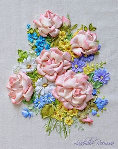 Ribbon embroidery by Ludmila R....