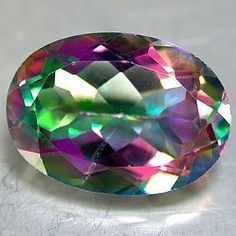 Mystic Fire Topaz - combination of purples and greens