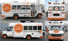 Grilled Cheese War: The Melt To Roll Out 100 School Buses, Invade Food Truck Industry Food Cart Design, Food Truck Design, Coffee Carts, Coffee Truck, Food Trucks, Grilled Cheese Food Truck, Food Truck For Sale, Truck Cakes, Hot Dog Stand
