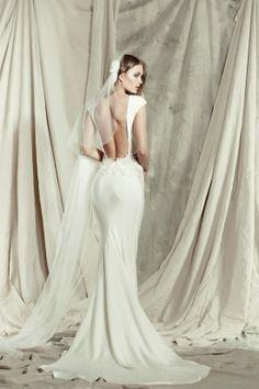 backless mermaid wedding gown