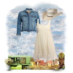 Big Green Tractor, created by hotcowboyfan on Polyvore