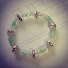 Springtime glass beaded bracelet  by Winterof45 on Etsy, $3.00