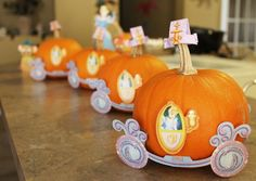 Cinderella princess pumpkin crafts  Have a set of paper dolls - Cinderella in rags and ball gowned.