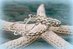 """Braided Earrings - Sterling Silver Woven Earrings - 7/8"""" Hoops $35.00"""