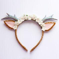Image of Natural Floral Deer Headband