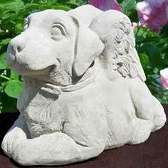 Superb Dog Garden Statues for Animal Freaks: Dog Angel Statues ~ virtualhomedesign.net Garden Statue Inspiration